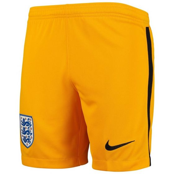 England Kids Yellow Goalkeeper Shorts 2020/21