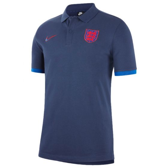 England Euro 2020 navy polo shirt