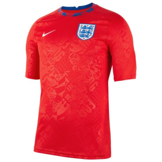 England 2020/21 red pre-match jersey