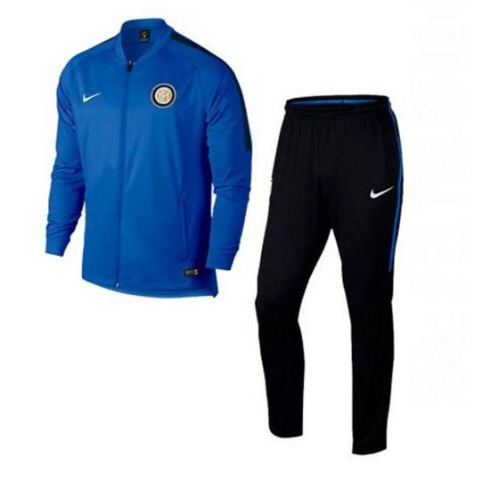 Inter Milan Kids Dry Warm-Up Tracksuit 2017/18 (Blue)