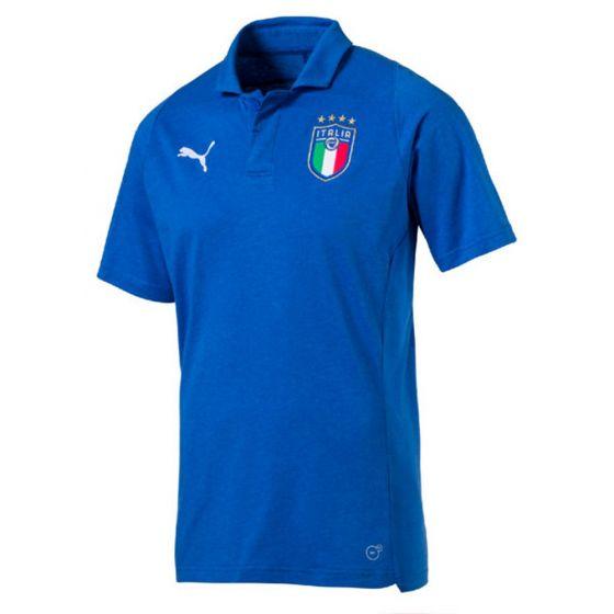 Italy Puma Casual Blue Polo Shirt 2018/19 (Adults)