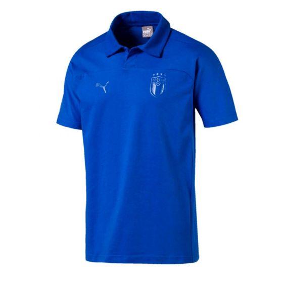 Italy Puma Blue Polo Shirt 2018/19 (Adults)