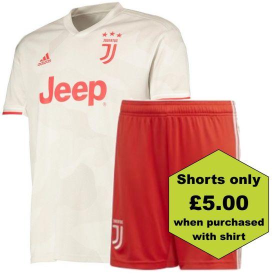 Juventus Kids Away Shirt and Shorts Bundle 2019/20