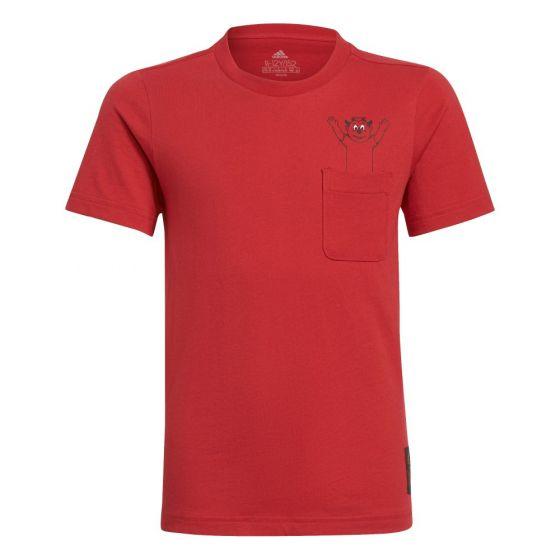 Man Utd 21/22 red junior character t-shirt