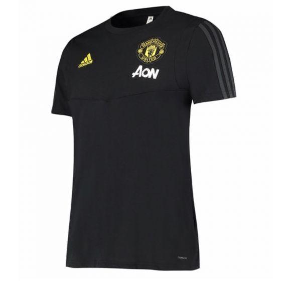 Man Utd Adidas black training t-shirt 19/20