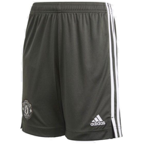 Man Utd kids green away shorts 20/21