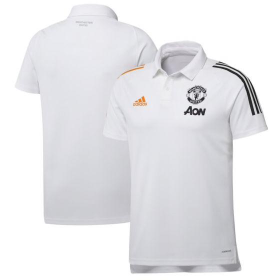 Man Utd polo shirt 20/21 (white)