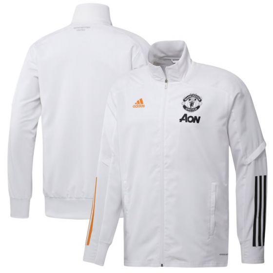 Man Utd white presentation jacket 20/21
