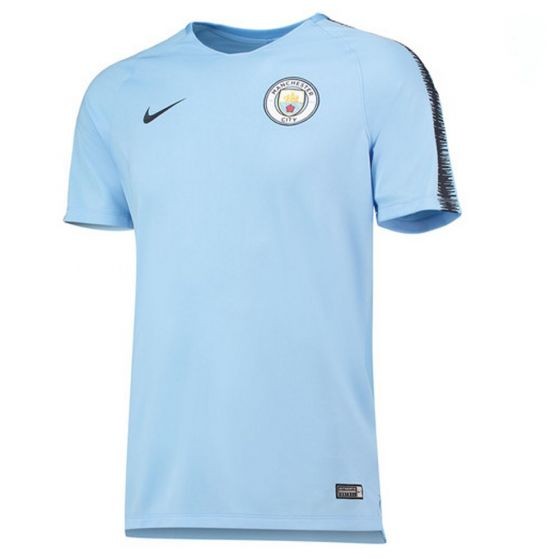 Manchester City Nike Squad Blue Training Jersey 2018/19 (Adults)