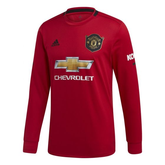 Manchester United Kids Long Sleeve Home Shirt 2019/20