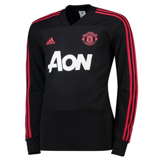 Manchester United Adidas Black Training Top 2018/19 (Adults)