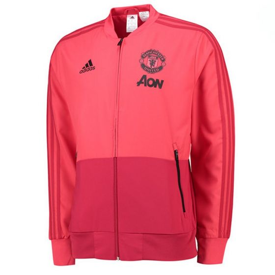Manchester United Adidas Pink Presentation Jacket 2018/19 (Kids)