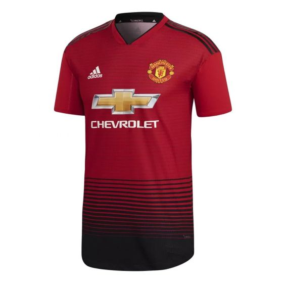 Manchester United Adidas Authentic Home Shirt 2018/19 (Adults)