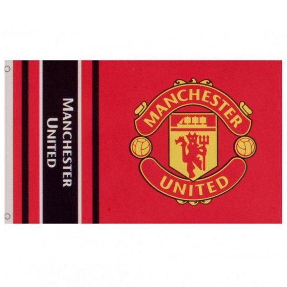 Manchester United Wordmark Stripe Flag