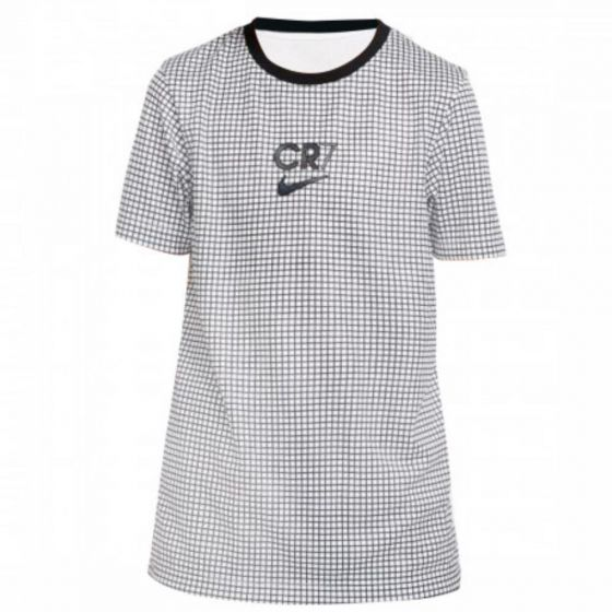 Nike X Cristiano Ronaldo kids white grid top 20/21