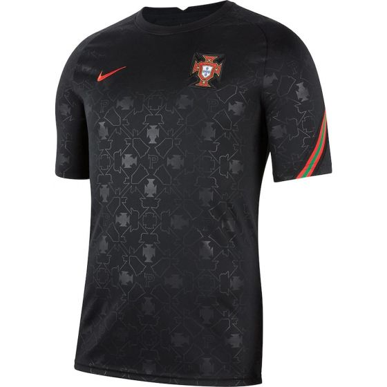 Portugal Kids Black Pre-Match Jersey 2020/21