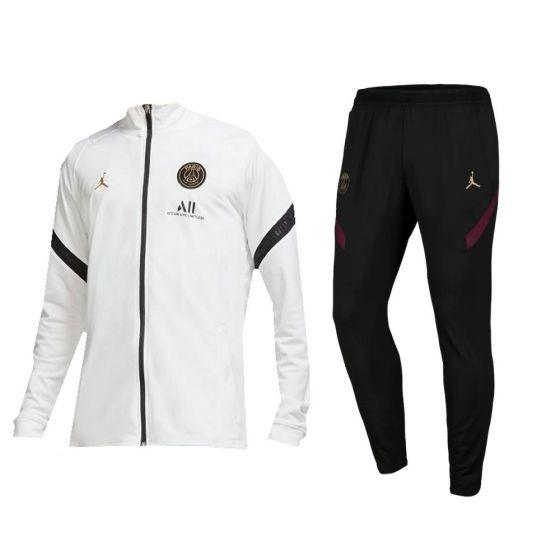 Paris Saint-Germain White/Black Strike Tracksuit 2020/21