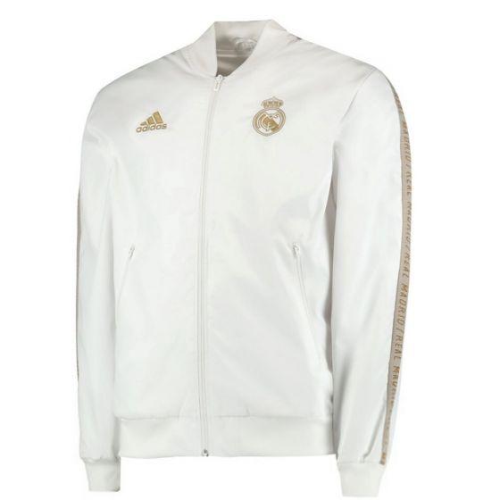 Real Madrid Kids White Anthem Jacket 2019/20