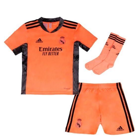 Real Madrid Kids Away Goalkeeper Kit 2020/21