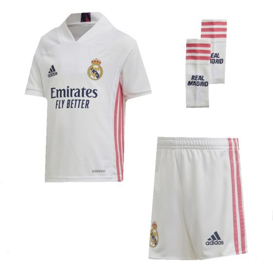Real Madrid Kids Home Kit 2020/21