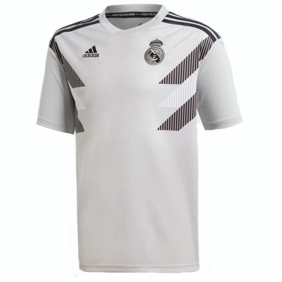 Real Madrid Adidas Grey Pre-Match Shirt 2018/19 (Kids)