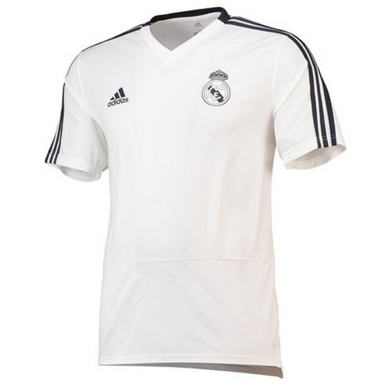 Real Madrid Adidas White Training Jersey 2018/19 (Adults)
