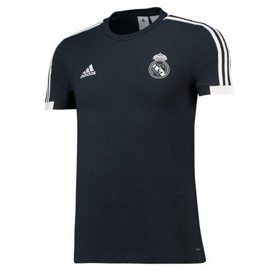 Real Madrid Adidas Dark Grey Training T-shirt 2018/19 (Adults)
