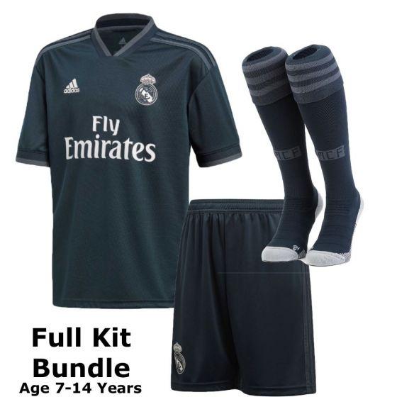 Real Madrid Kids Away Kit Bundle 2018/19