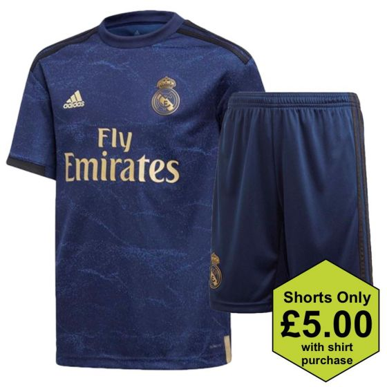 Real Madrid Kids Away Shirt and Shorts Bundle 2019/20