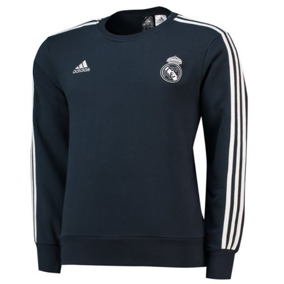Real Madrid Adidas Dark Grey Sweat Top 2018/19 (Adults)