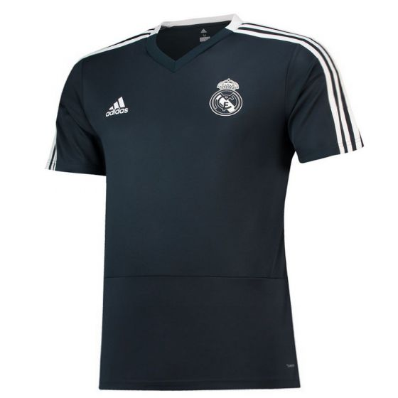 Real Madrid Adidas Dark Grey Training Jersey 2018/19 (Kids)