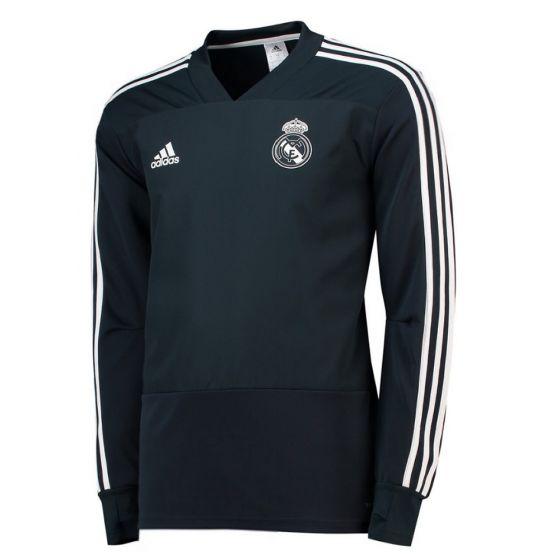 Real Madrid Adidas Dark Grey Training Top 2018/19 (Adults)
