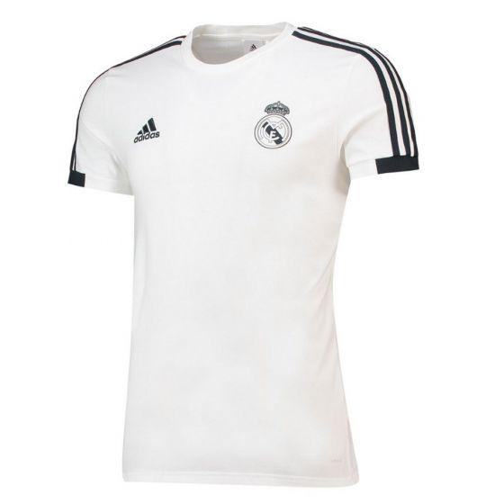 Real Madrid Adidas White Training T-shirt 2018/19 (Adults)