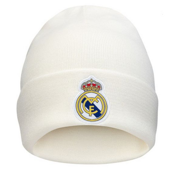 Real Madrid White Adidas 3S Woolie Hat 2018/19