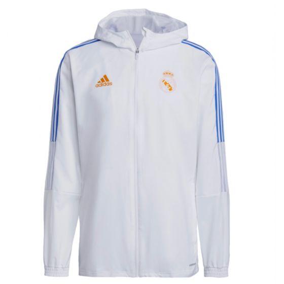 Real Madrid white presentation jacket 21/22