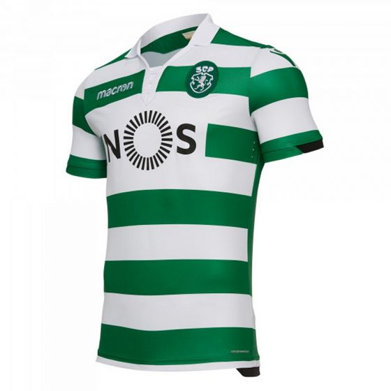 Sporting Lisbon Macron Home Shirt 2018/19 (Adults)