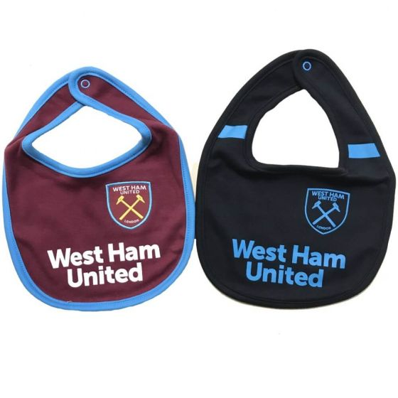 West Ham United Baby Bibs 2017/18