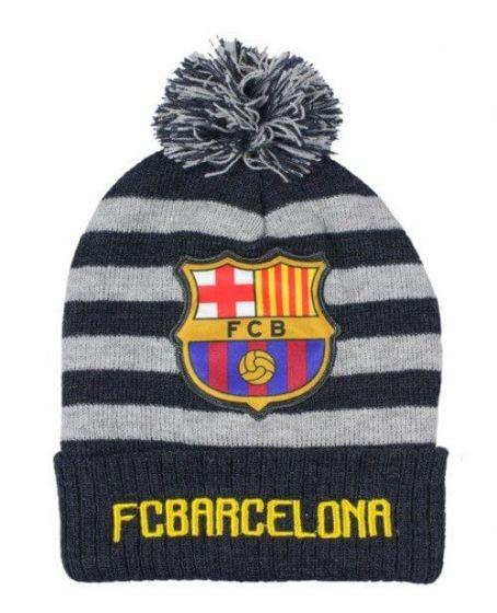 Barcelona Stripe Beanie Hat (Navy/Grey)