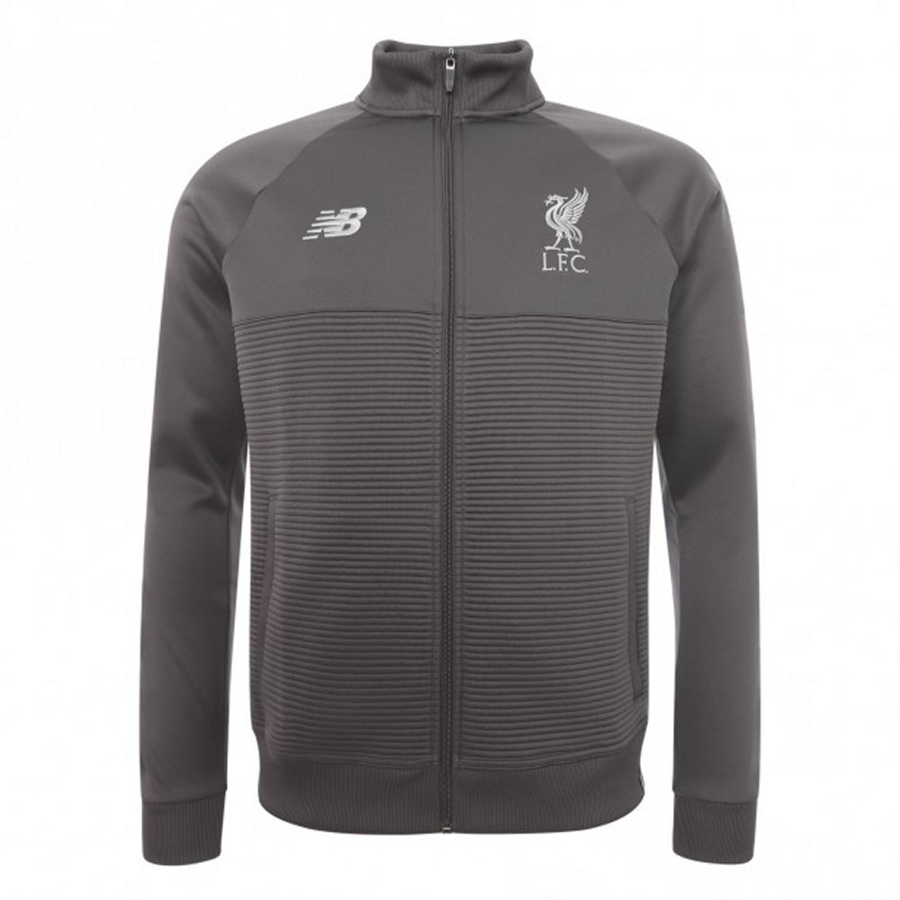 90a1a2fef Liverpool New Balance Elite Kids Grey Walk Out Jacket 2018/19 - Genuine