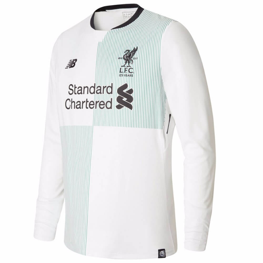 new style 7418d 7c777 Liverpool Kids Long-Sleeve Away Shirt 2017/18