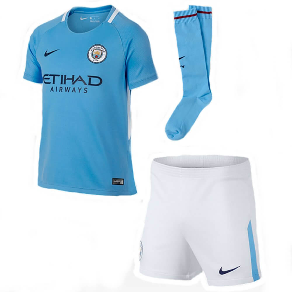 Manchester City Kids Home Kit 2017 18 Now In Stock 36cf7f105