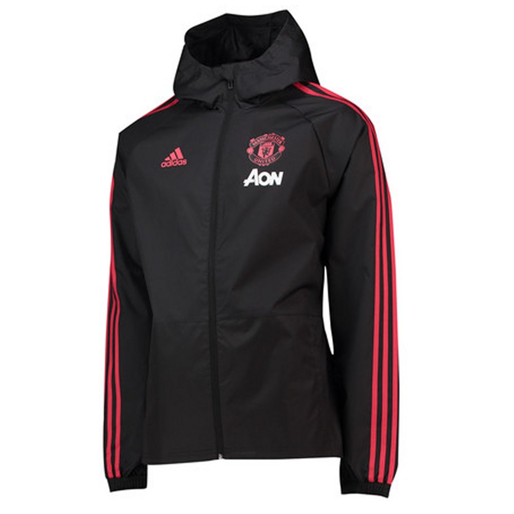 31c42dcad Manchester United Adidas Rain Jacket 2018 19 - Official Merchandise