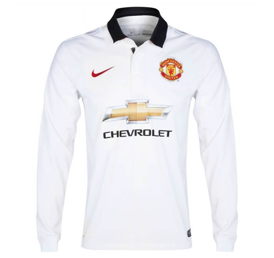 release date 720f4 e744a Manchester United Long Sleeve Away Jersey 2014 - 2015