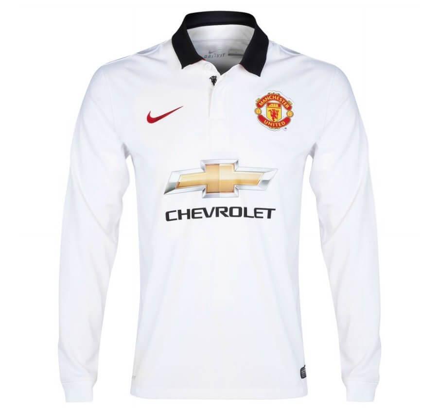 release date d069b 38d5b Manchester United Long Sleeve Away Jersey 2014 - 2015