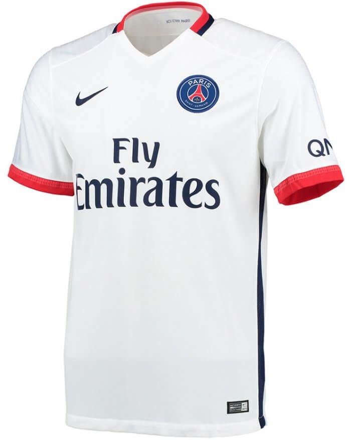 Paris Saint-Germain Away Jersey 2015 - 2016  e38e647b8