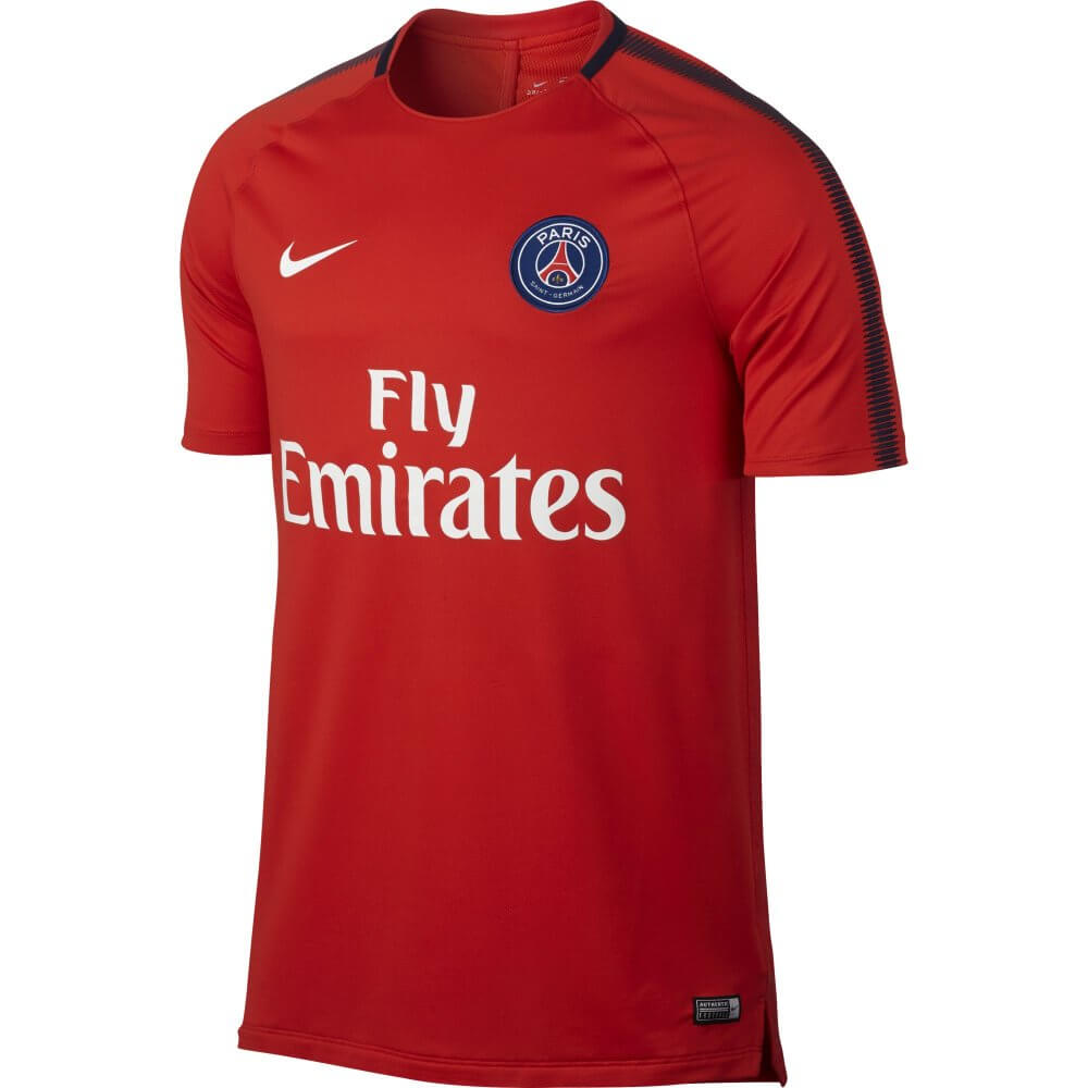 newest 4556d 5a75f Paris Saint-Germain Squad Training Shirt 2017/18 (Red)