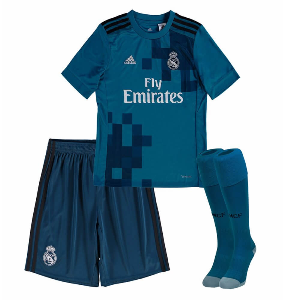 0175a739f Real Madrid Kids Third Kit 2017 18 - Just Released