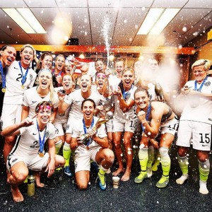 2015 Women's World Cup Final USA Celebrate