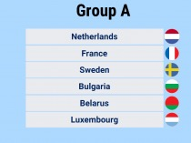 2018 FIFA World Cup UEFA Qualifying Group A Teams