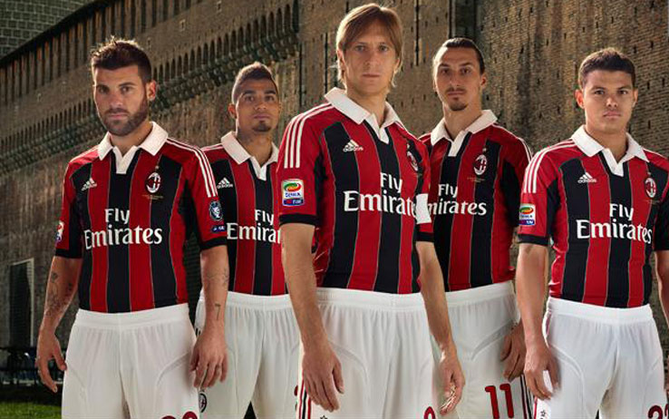 online store 3d4c1 19828 AC Milan Home Kit | AC Milan Home Kits | Soccer Box